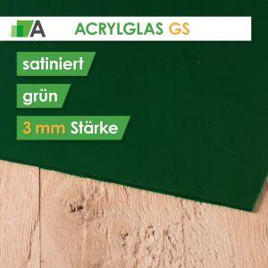 Acrylglas GS Stärke 3 mm beidseitig satiniert grün