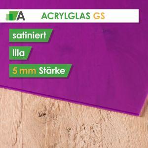 Acrylglas GS Stärke 5 mm beidseitig satiniert lila