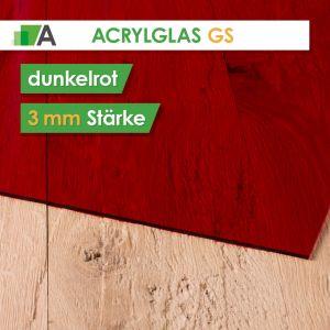 Acrylglas GS Stärke 3 mm dunkelrot