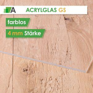 Acrylglas GS Stärke 4 mm farblos