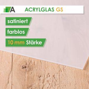 Acrylglas GS Stärke 10 mm satiniert farblos