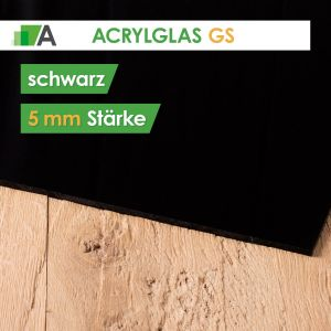 Acrylglas GS Stärke 5 mm schwarz