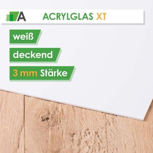 Acrylglas XT Stärke 3 mm weiß deckend