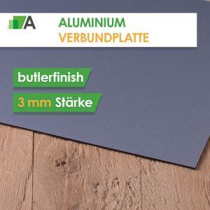 Alu Verbundplatte Stärke 3 mm butlerfinish