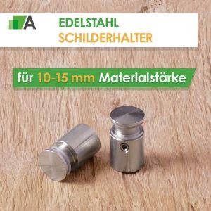 Edelstahl Schilderhalter für 10-15 mm
