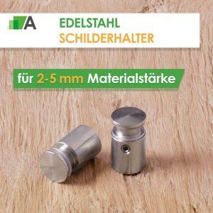 Edelstahl Schilderhalter für 2-5 mm
