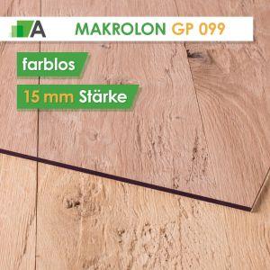 Makrolon® GP 099 standard Stärke 15 mm farblos