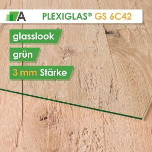PLEXIGLAS® GS Stärke 3 mm glasslook grün 6C42
