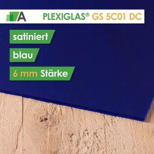 PLEXIGLAS® GS Satinice Stärke 6 mm beidseitig satiniert blau / sky blue 5C01 DC
