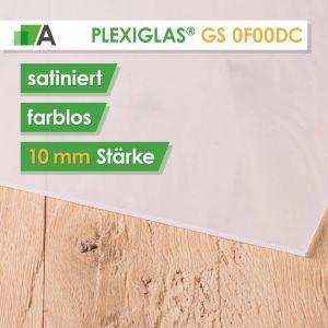 PLEXIGLAS® GS Satinice 0F00 DC farblos / crystal Stärke 10 mm satiniert