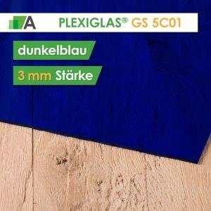 PLEXIGLAS® GS Stärke 3 mm blau 5C01