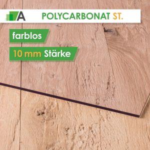 Polycarbonat standard Stärke 10 mm farblos
