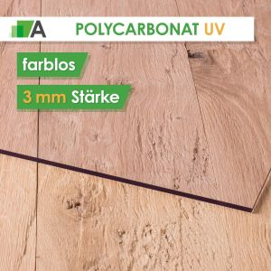 Polycarbonat UV Stärke 3 mm farblos