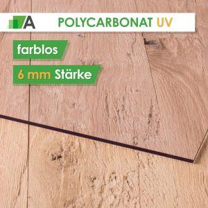 Polycarbonat UV Stärke 6 mm farblos