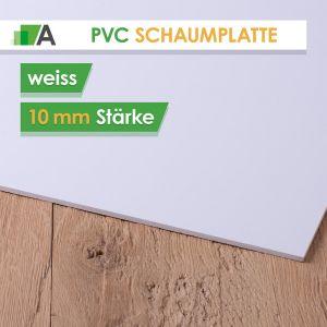 PVC Hartschaumplatte Stärke 10 mm weiss