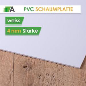 PVC Hartschaumplatte Stärke 4 mm weiss