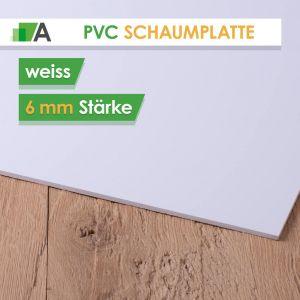 PVC Hartschaumplatte Stärke 6 mm weiss